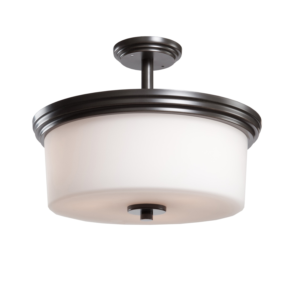 glass drum shade semi flush mount 6rjh amc lighting and decor. Black Bedroom Furniture Sets. Home Design Ideas