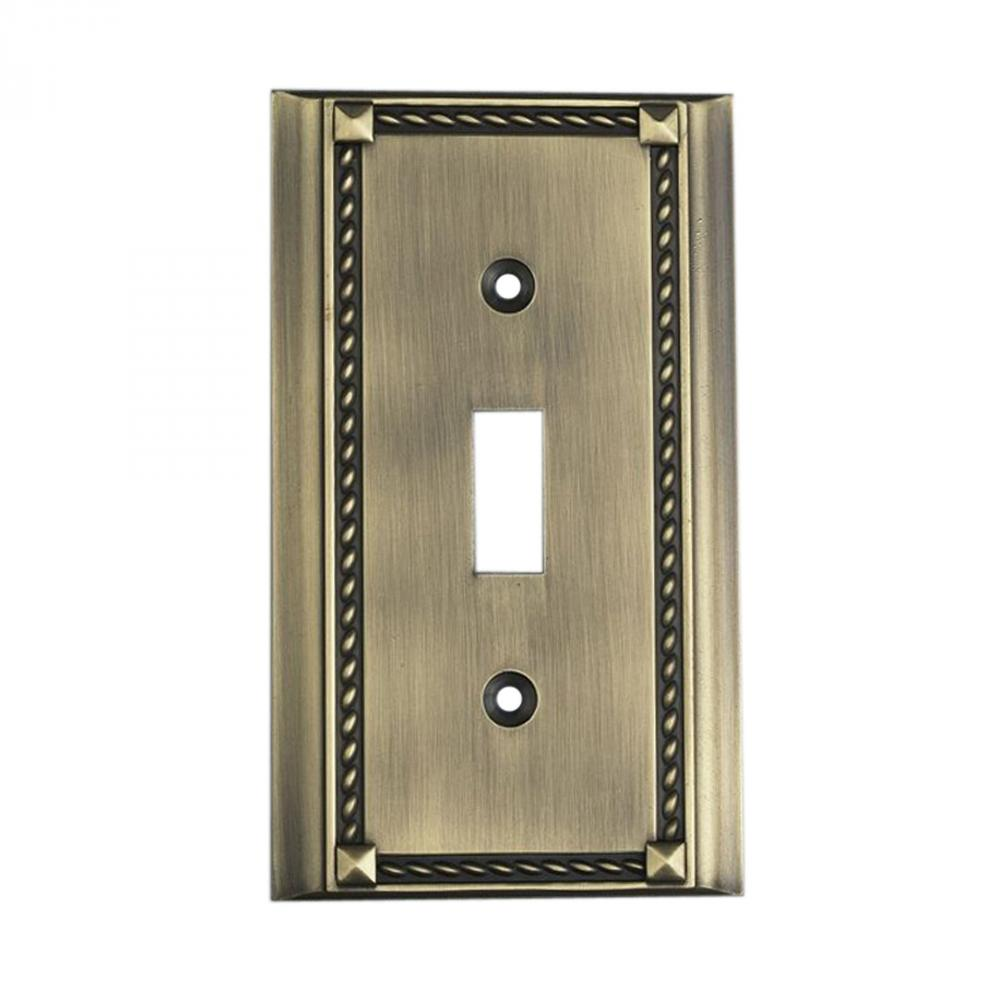 ClickPlates AntiqueBrass Single Outlet Cover 2507AB NEW